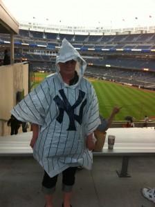 Yankee Stadium pinstripe ponchos