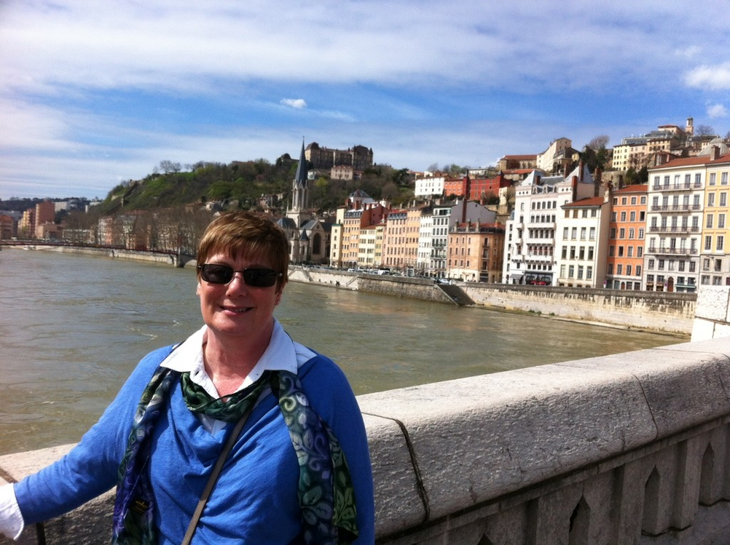Mimi sightseeing in Lyon.