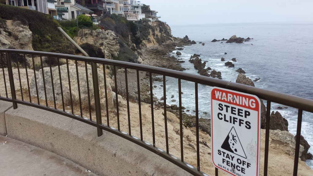 While we enjoyed the scenic cliffs of Southern California, stick man had a rougher time.