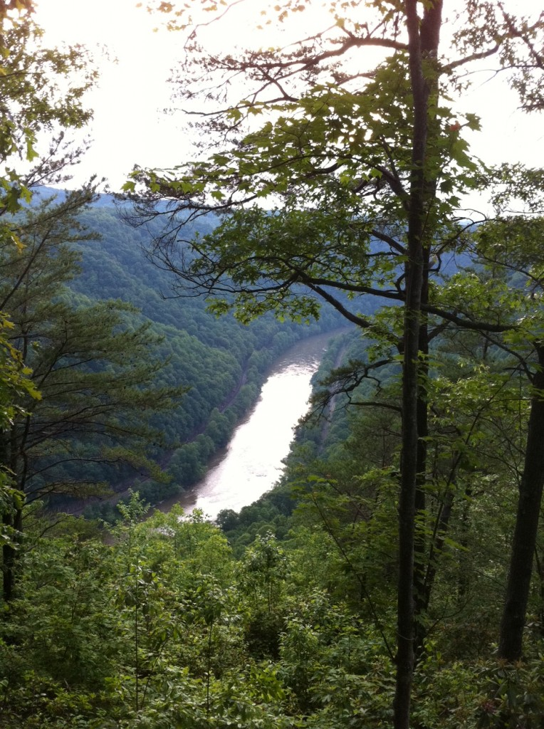 My companion and I rode the rapids of the New River Gorge in 2011. Don't ask whether we managed to stay in our raft.