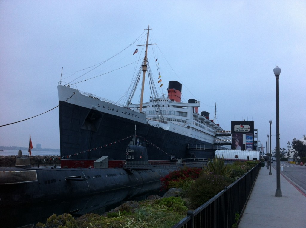 The Queen Mary's companion as a docked museum is a Russian submarine.