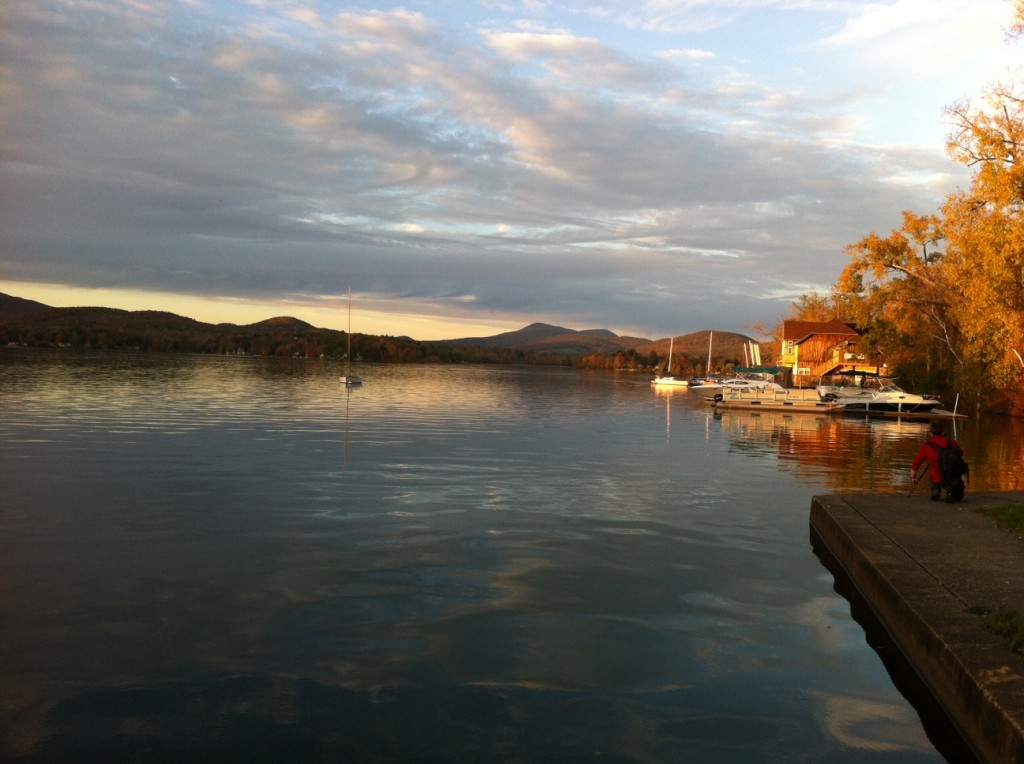 Another evening view of Lake Pontoosuc