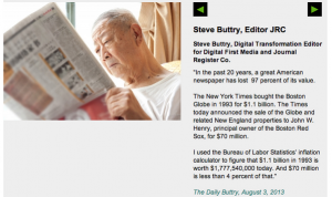 I get an occasional mention in news-industry blogs. Sometimes using the right photograph.