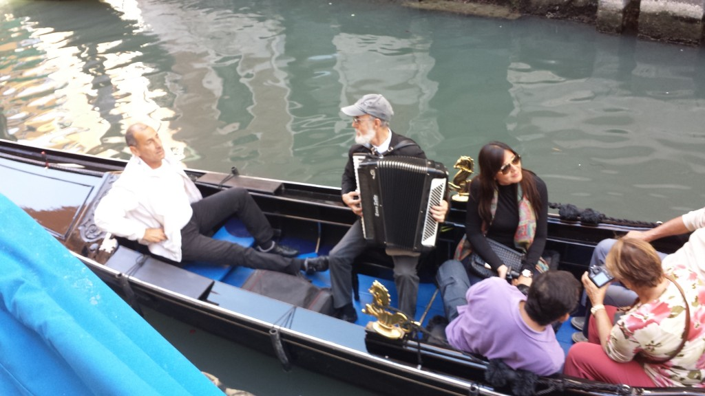 You can hire a gondola with an accordion player. My companion and I preferred Max's soft humming.