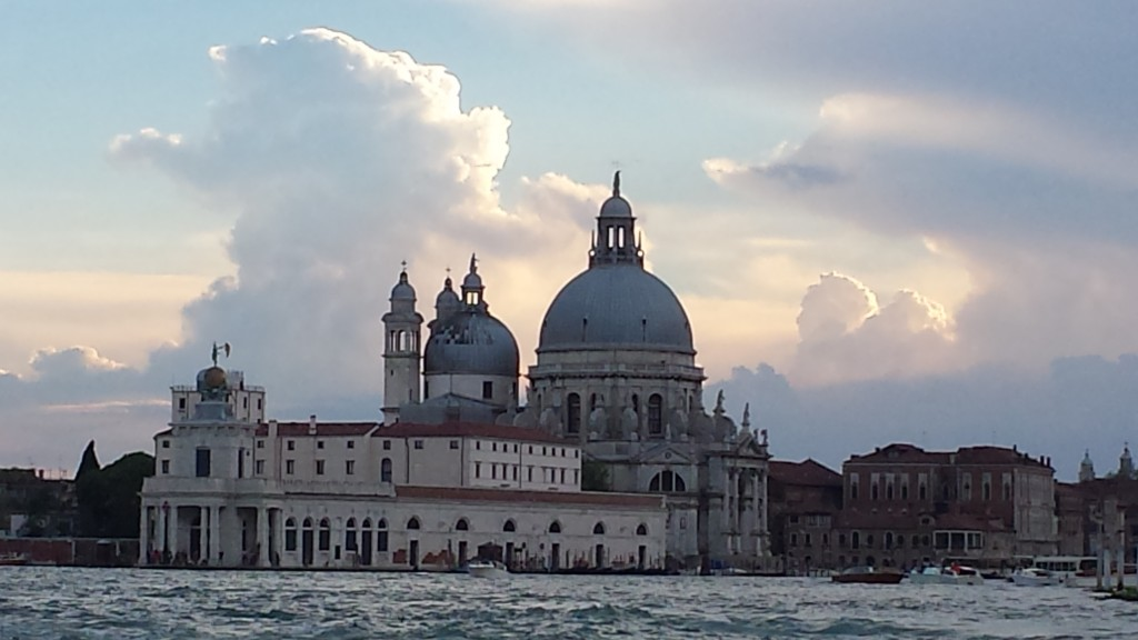 The Basilica di Santa Maria della Salute (Saint Mary of Health) from our gondola.