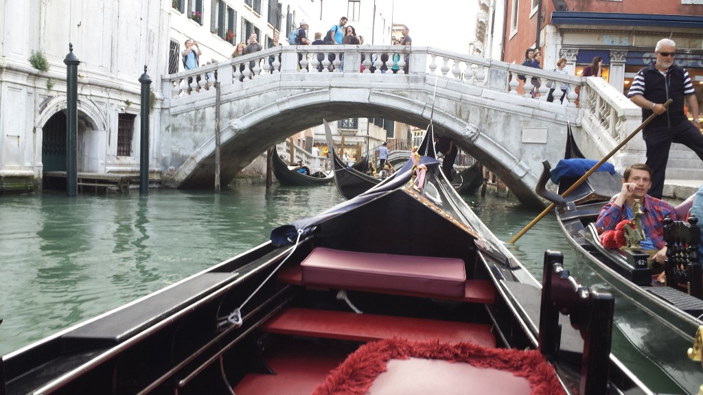 We start our ride through the canals of Venice.