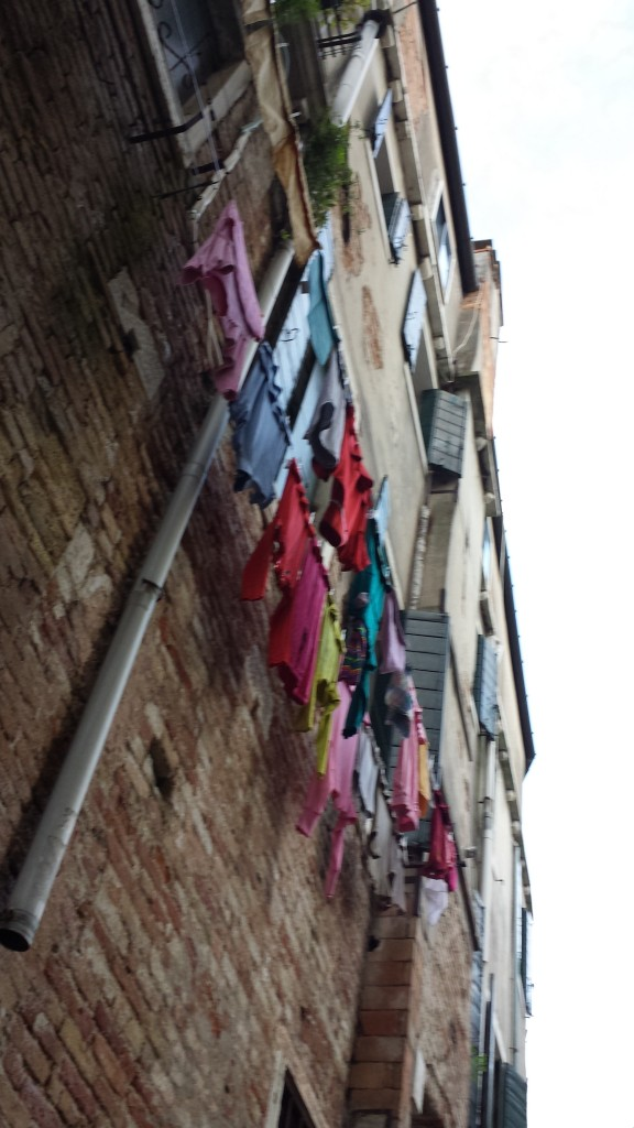 Saturday was laundry day for some homes along the canals.
