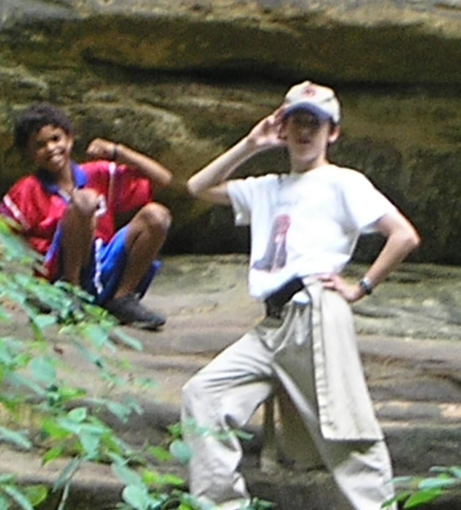 My nephews Brandon and Patrick enjoying Starved Rock State Park.