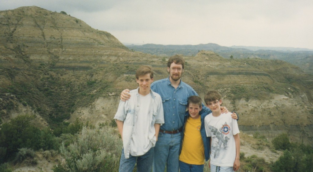 With Mike, Tom and Joe at Teddy Roosevelt National Park.