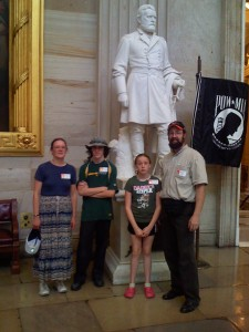 The Devlins were among our many DC visitors: From left, Carol, Patrick, Kat and John.