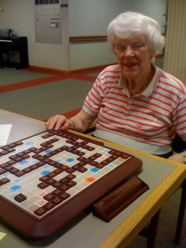 Mom and I often play Scrabble when I visit her in Lee's Summit.