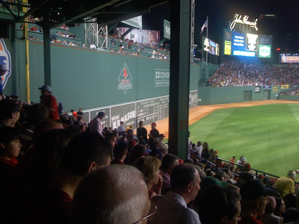 I had a great view of the Green Monster on my only visit to Fenway.