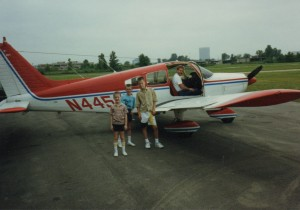 Their uncle, John Johnson, took our sons flying on a 1989 visit to Michigan.