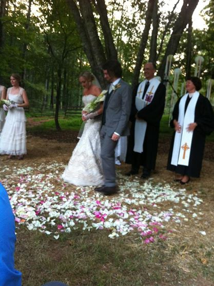 My brother, Dan, and his wife, Sharon, presided at Jon and Jamie's wedding in the Georgia mountains.