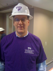 My visits to TCU in recent years included a tour of construction at the new quarters of the Schieffer School.