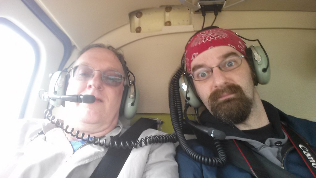 You gotta take a selfie in the helicopter.