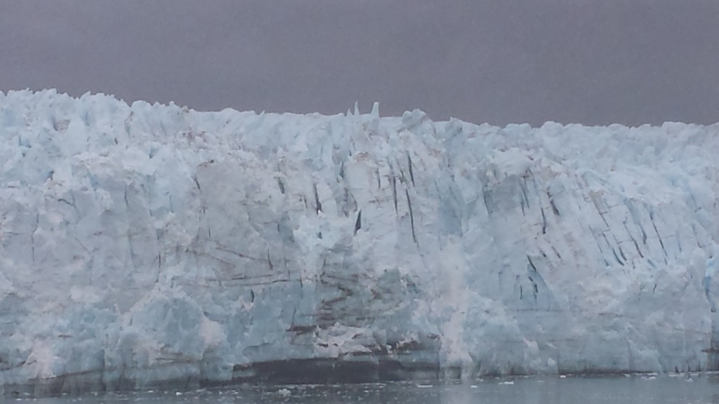 "A closer view of Margery, though I was never quick enough to catch an iceberg ""calving."""