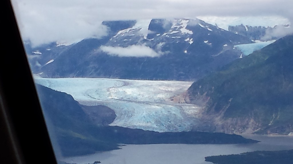 An aerial view as we approach Mendenhall Glacier.
