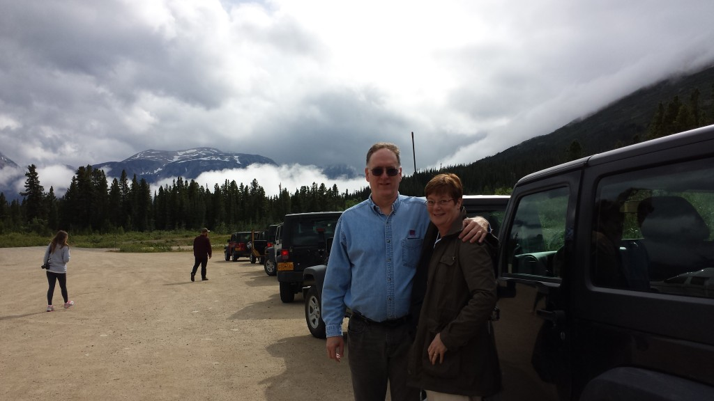 From Skagway, my companion and I took the Yukon Jeep Adventure, driving up into the Yukon Territory, including a bumpy off-road drive on Montana Mountain.