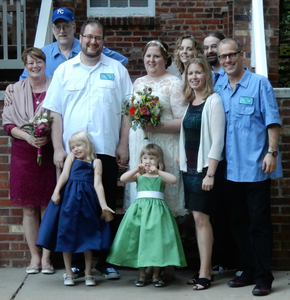 We had the whole family together for Ashley's wedding.