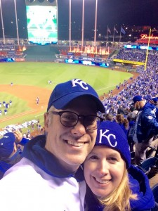 Mike and Susie at Kauffman Stadium for Game Two
