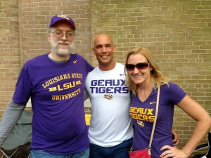 Tailgating before the LSU/Florida game with Greg and Janelle Walker.